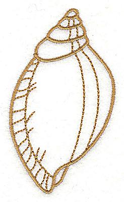 Embroidery Design: Seashell G 2.02w X 3.56h