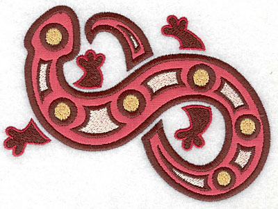 Embroidery Design: Gecko A with applique 5.60w X 4.20h