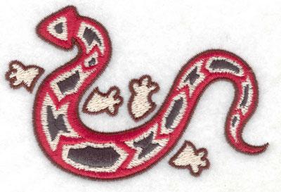 Embroidery Design: Gecko B 3.86w X 2.55h