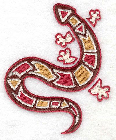 Embroidery Design: Gecko C 3.12w X 3.81h