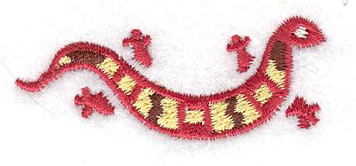Embroidery Design: Gecko horizontal 2.38w X 0.96h