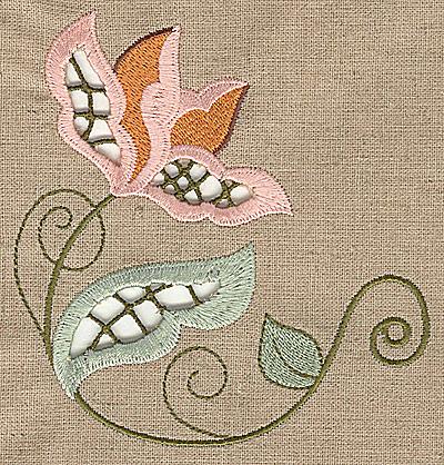 Embroidery Design: Cutwork flower A 4.73w X 4.97h