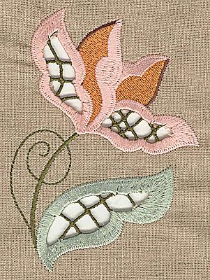 Embroidery Design: Cutwork flower B 3.50w X 4.95h