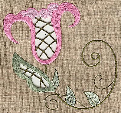 Embroidery Design: Cutwork flower C5.19w X 4.99h