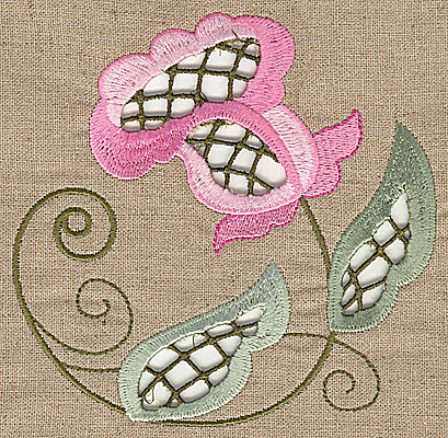 Embroidery Design: Cutwork flower E 4.95w X 4.95h