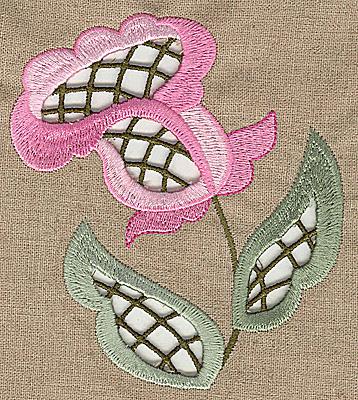 Embroidery Design: Cutwork flower F 4.47w X 4.97h