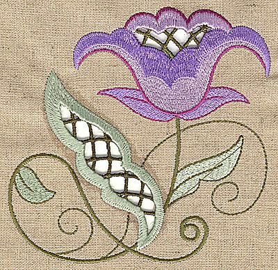 Embroidery Design: Cutwork flower G 4.91w X 4.91h