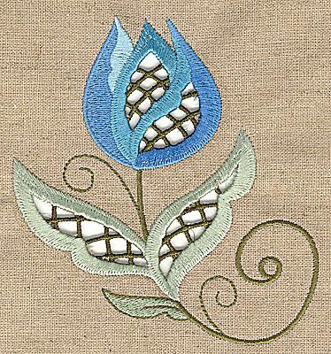 Embroidery Design: Cutwork flower K 4.94w X 4.96h