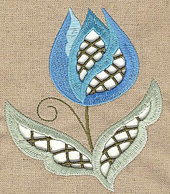 Embroidery Design: Cutwork flower L 3.50w X 4.99h