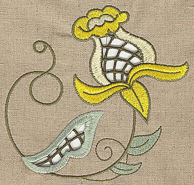 Embroidery Design: Cutwork flower M 5.05w X 4.95h
