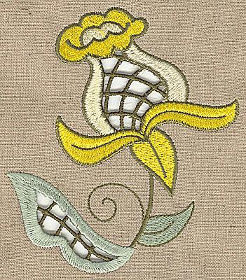 Embroidery Design: Cutwork flower N 4.25w X 4.99h