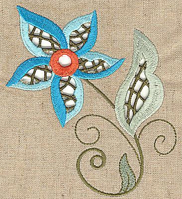 Embroidery Design: Cutwork flower O 4.48w X 4.90h