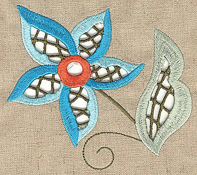Embroidery Design: Cutwork flower P 4.92w X 4.39h