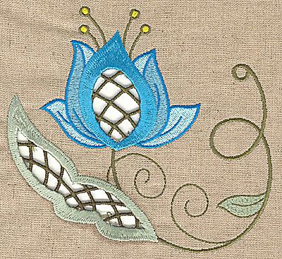 Embroidery Design: Cutwork flower Q 5.52w X 4.97h