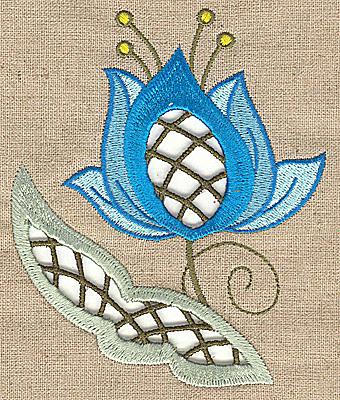 Embroidery Design: Cutwork flower R 4.05w X 4.97h