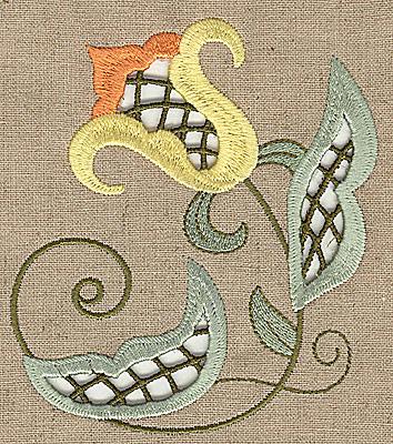 Embroidery Design: Cutwork flower S 4.27w X 4.96h