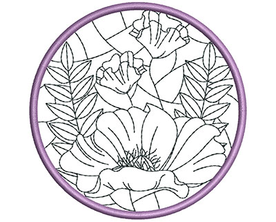 Embroidery Design: Stain Glass Sun Catcher 1 3.98w X 3.98h