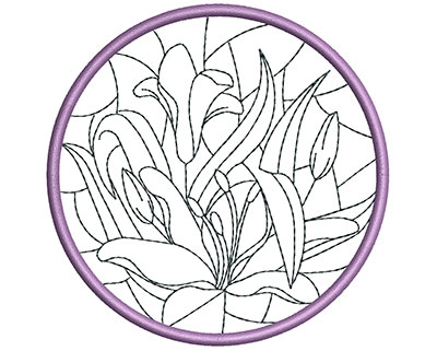Embroidery Design: Stain Glass Sun Catcher 2 3.98w X 3.98h