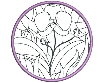 Embroidery Design: Stain Glass Sun Catcher 4 3.98w X 3.98h