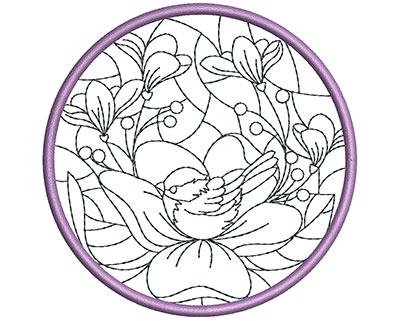 Embroidery Design: Stain Glass Sun Catcher 6 3.98w X 3.98h
