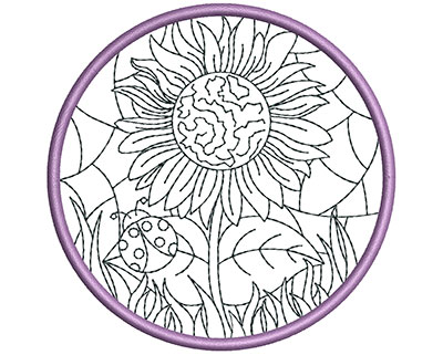 Embroidery Design: Stain Glass Sun Catcher 10 3.98w X 3.98h