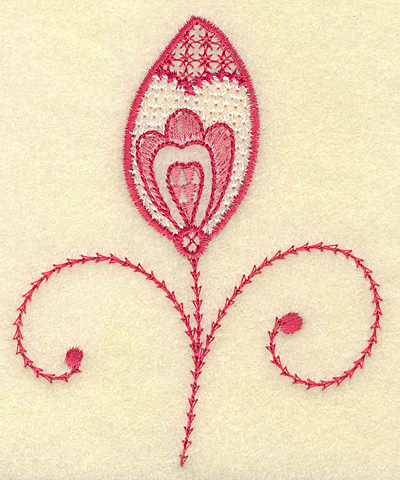 Embroidery Design: Heart and leaf 3.13w X 3.86h