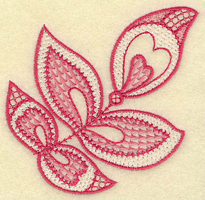 Embroidery Design: Leaves and hearts 3.74w X 3.74h