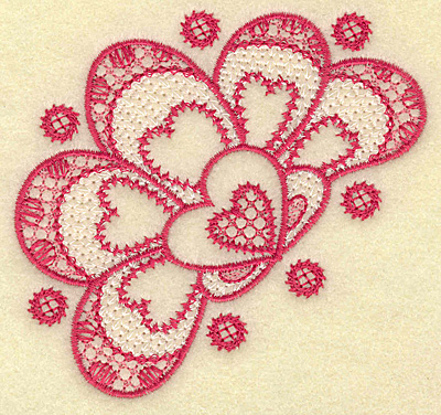 Embroidery Design: Floral hearts 3.76w X 3.59h