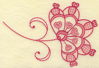 Embroidery Design: Floral hearts medium 6.84w X 4.69h