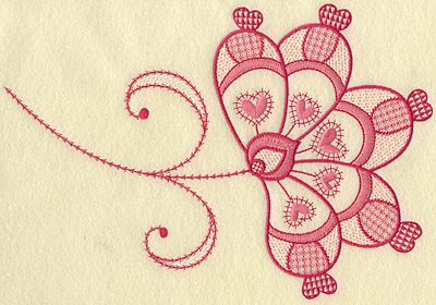Embroidery Design: Floral hearts jumbo 10.19w X 6.99w