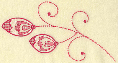 Embroidery Design: Leaves hearts and swirls jumbo 10.29w X 5.58h