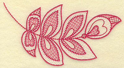 Embroidery Design: Hearts and leaves medium 6.81w X 3.74h