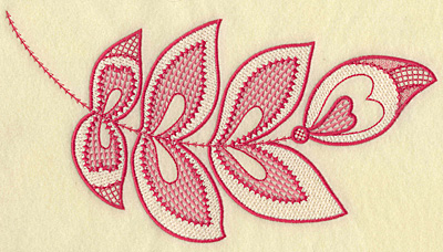 Embroidery Design: Hearts and leaves jumbo 10.22w X 5.61h