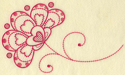 Embroidery Design: Floral hearts jumbo 10.27w X 6.15h