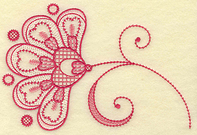 Embroidery Design: Floral hearts and swirls medium 6.88w X 4.65h