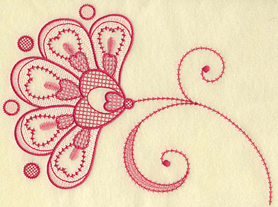 Embroidery Design: Floral hearts and swirls jumbo 10.30w X 6.96h