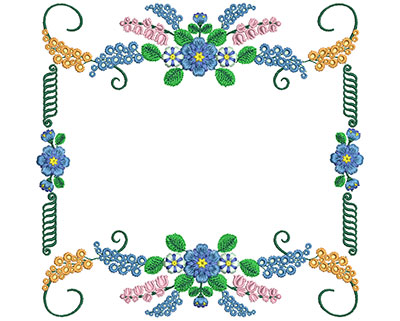 Embroidery Design: Sweet Heart Floral Blocks 10 7.91w X 7.61h