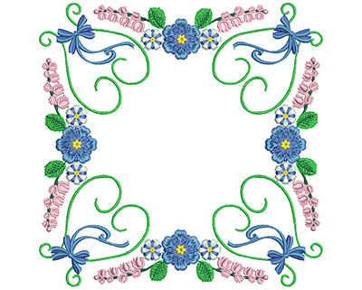 Embroidery Design: Sweet Heart Floral Blocks 11 7.27w X 7.30h