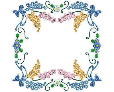 Embroidery Design: Sweet Heart Floral Blocks 12 7.21w X 7.26h