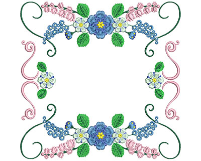 Embroidery Design: Sweet Heart Floral Blocks 2 7.26w X 7.16h