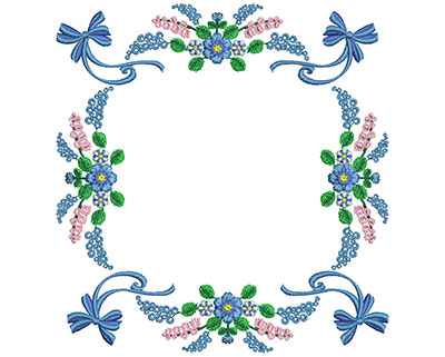 Embroidery Design: Sweet Heart Floral Blocks 4 6.93w X 7.30h