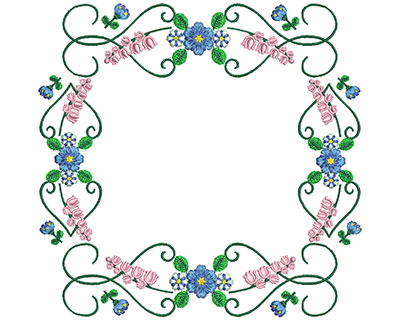 Embroidery Design: Sweet Heart Floral Blocks 5 7.47w X 7.26h
