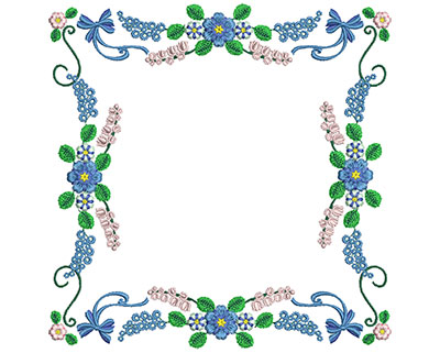 Embroidery Design: Sweet Heart Floral Blocks 6 7.22w X 7.29h