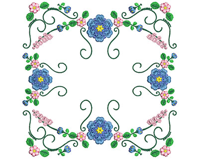Embroidery Design: Sweet Heart Floral Blocks 7 7.19w X 7.26h