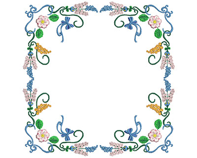 Embroidery Design: Sweet Heart Floral Blocks 8 7.13w X 7.28h