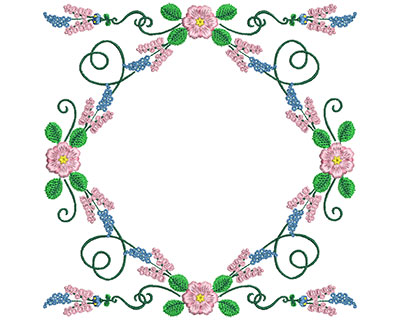 Embroidery Design: Sweet Heart Floral Blocks 9 7.28w X 7.30h