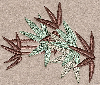 """Embroidery Design: Bamboo small  3.40""""h x 2.97""""w"""