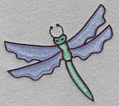"""Embroidery Design: Dragonfly  3.40""""h x 3.74""""w"""