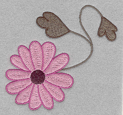 """Embroidery Design: Asian flower B small  3.53""""h x 3.60""""w"""