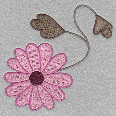 """Embroidery Design: Asian flower B large  4.90""""h x 5.00""""w"""